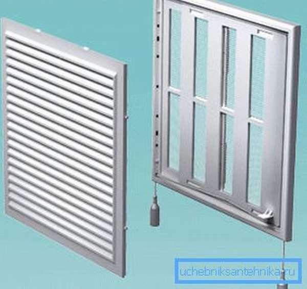 Регулируемая решетка для вентиляции