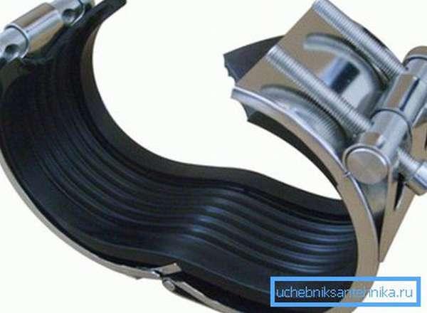 Ремонтные хомуты для трубопроводов с резиновым уплотнителем