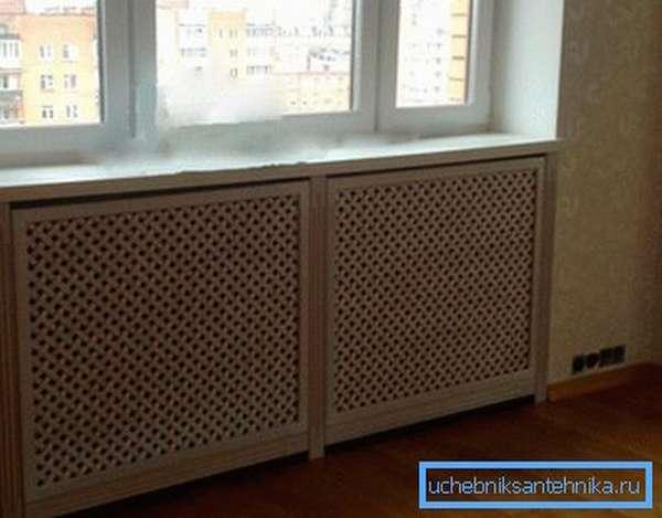 Решетка на радиаторе отопления