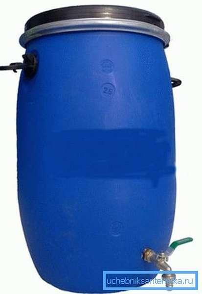 Резервуар на 100 литров.