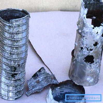 Результат воздействия конденсата на металл