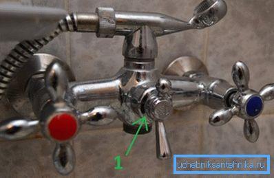 Ручка шарового переключателя (она выделена на фото) может сделать полный оборот.
