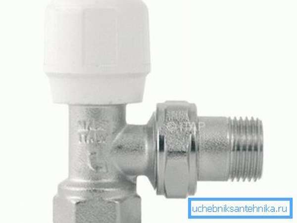 Ручной регулировочный кран на радиатор отопления