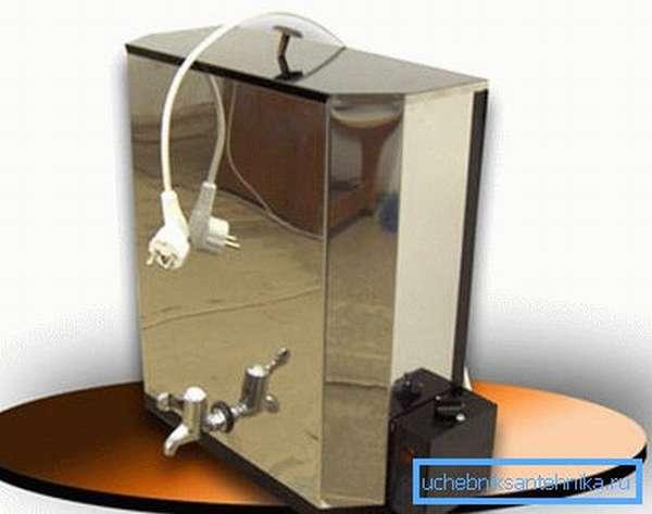 Рукомойник для дачи с подогревом из нержавейки (заводской)