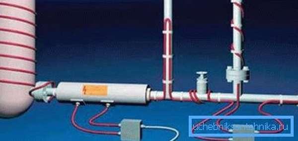 С помощью кабеля можно осуществлять обогрев трубопроводов, а также различных узлов и емкостей