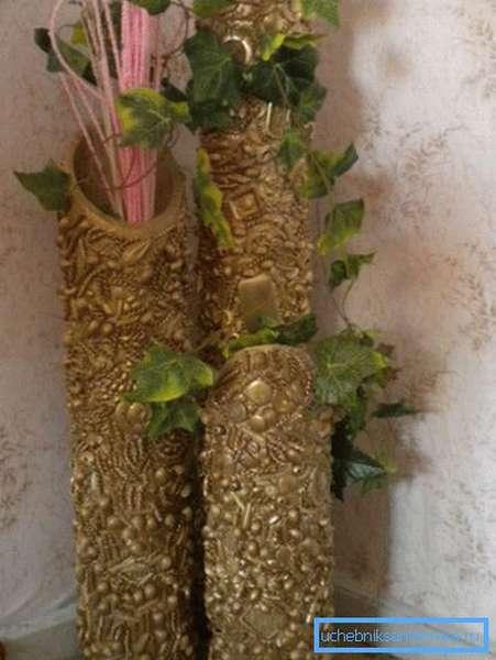 Самодельные напольные вазы