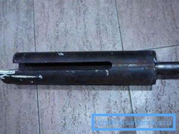 Самодельный бур-ложка без направляющей спирали