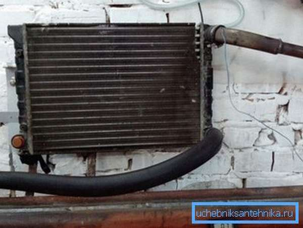 Самодельный обогреватель для гаража из радиатора автомобиля