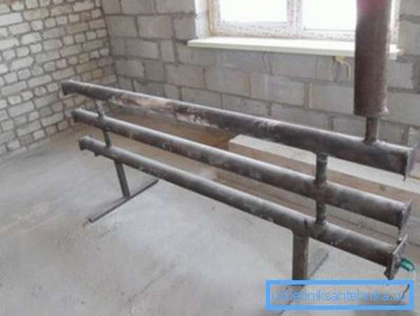Самодельный регистр из стальных труб
