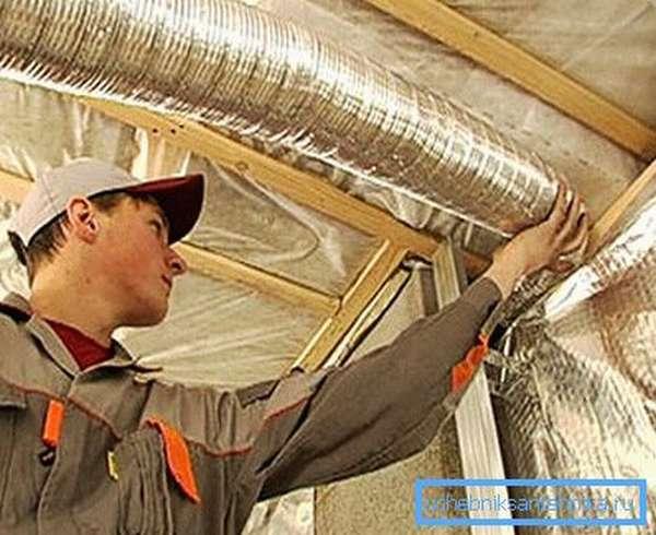 Самостоятельная сборка вентиляционной системы дома