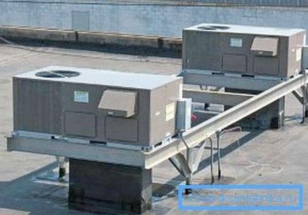 Самые производительные установки ставятся на крышах