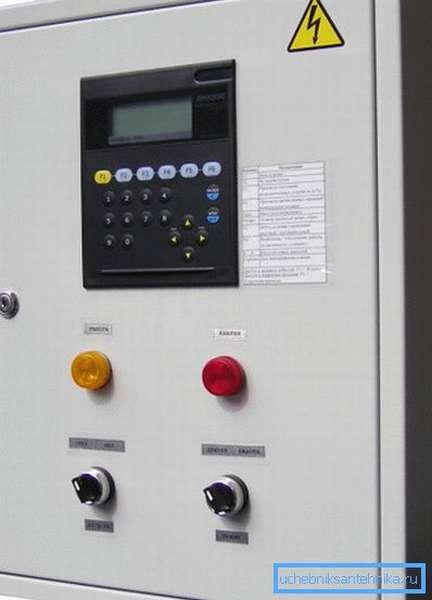 Щит управления приточной вентиляцией с выводом показаний датчиков