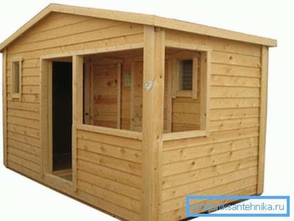 Серийный домик из дерева.