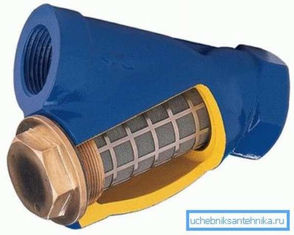 Сетчатый фильтр грубой очистки для водопровода