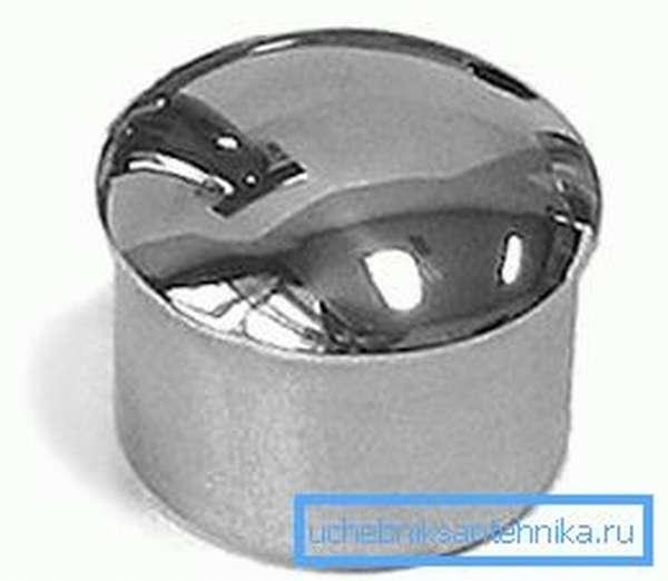 Сферическая заглушка из железа