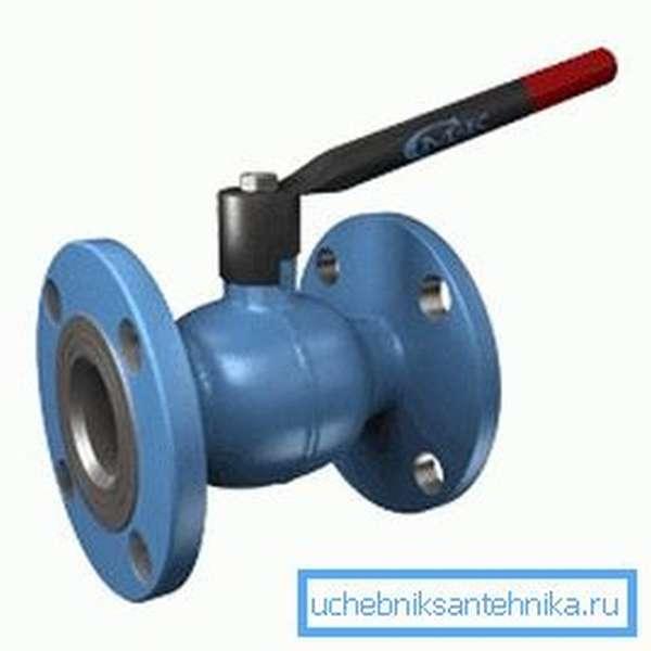 Шаровый кран КШЦФ ДУ100 может заменить задвижку без адаптации трубопровода.