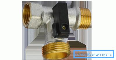 Шаровый проходной вентиль для посудомоечных машин
