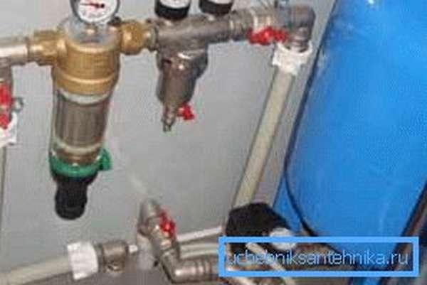 Схема монтажа водоснабжения на даче из колодца предусматривает обязательную установку контрольных приборов