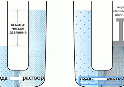 Схема осмотического фильтра
