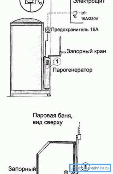 Схема подключения ПГ