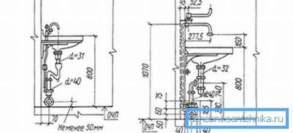 Схема подключения к водопроводу