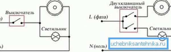 Схема подключения вытяжки с освещением