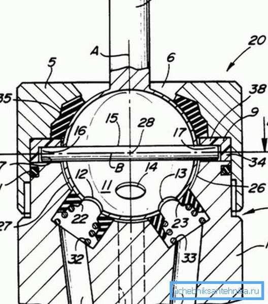 Схема работы механизма.