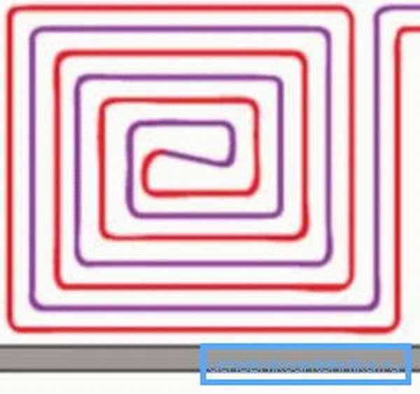 Схема расположения системы по спирали