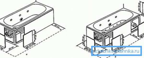 Схема установки джакузи
