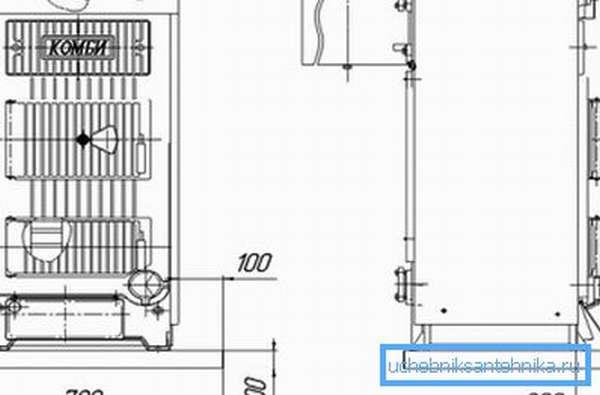 Схема устройства котла Кировского завода