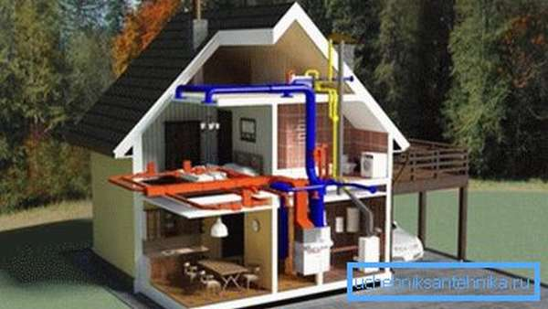 Схемы обогрева жилья могут быть самыми разными