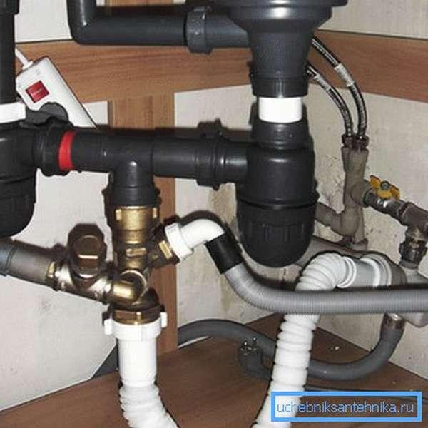 Шланг для слива воды из посудомоечной машины