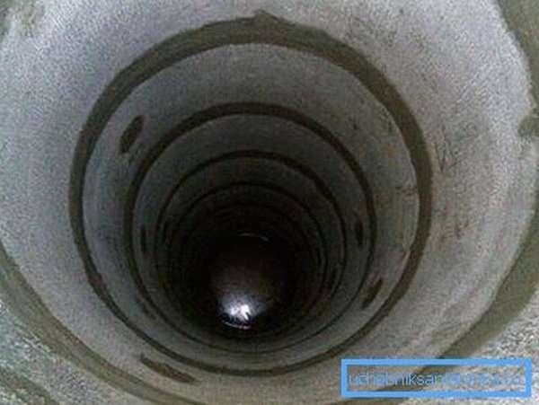 Швы между кольцами желательно заделать цементным раствором. Таким образом мы преградим путь грязной дождевой воде с поверхности.