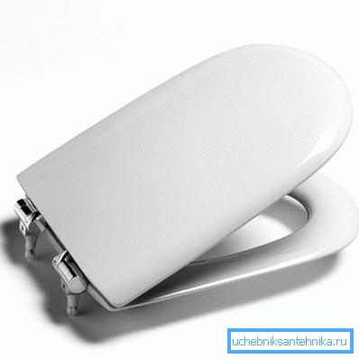 Сиденья с микролифтом имеют традиционные крепежные элементы
