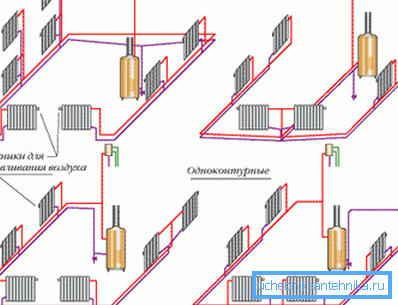 Система двухтрубная вертикальная с верхней разводкой