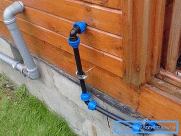 Система водоснабжения частного дома из труб ПНД