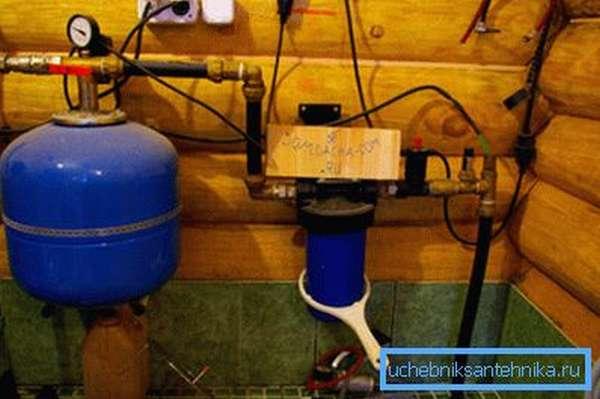 Система водоснабжения в доме из колодца.