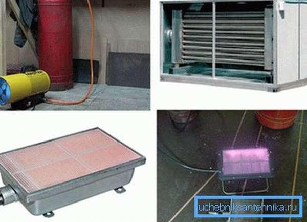 Системы отопления гаража с помощью газа