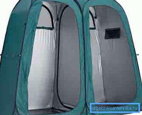 Складная палатка с туалетом и походным душем