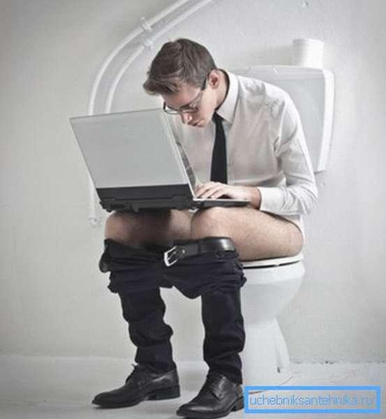 Слишком долгое сидение на унитазе чревато проблемами со здоровьем