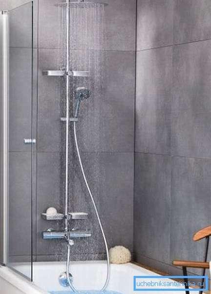 Смеситель для ванной с тропическим душем Valentin Opium 4