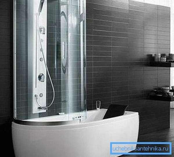 Сокращённый вариант кабины-ванны