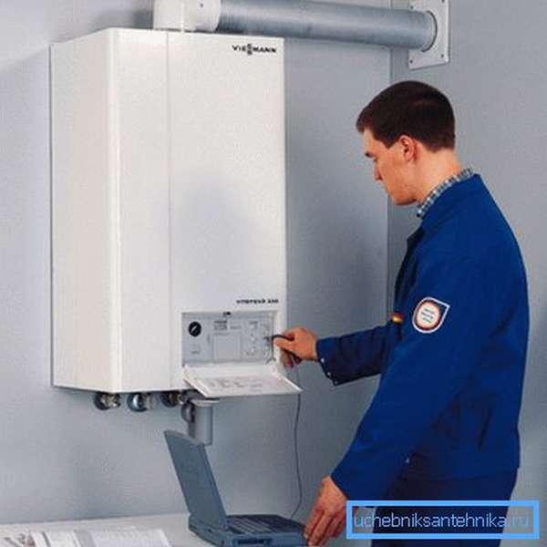 Современные газовые котлы работают автоматически.