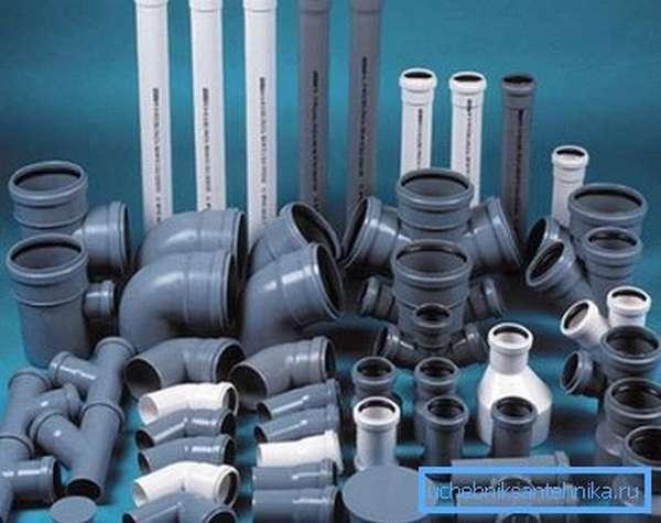 Современные комплектующие для монтажа домашней канализации.