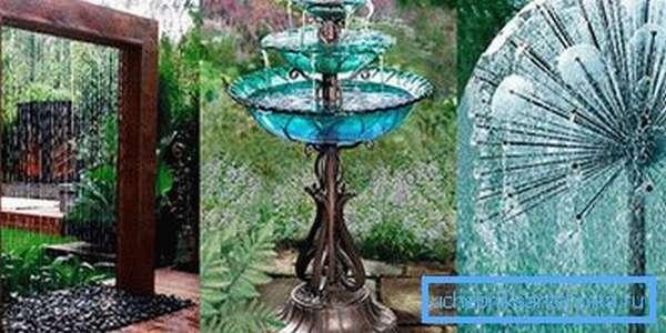Современные садовые фонтаны