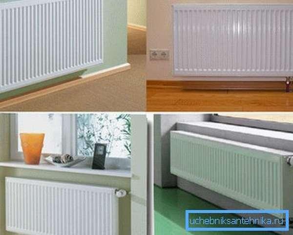 Стальные радиаторы отопления Керми разной модификации и подключения
