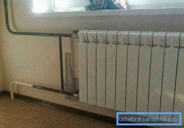 Стальные трубы отопления в квартире
