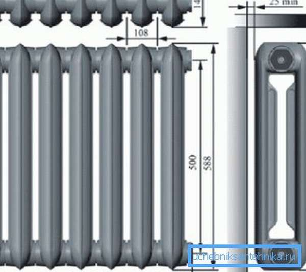 Стандартные размеры МС-140.