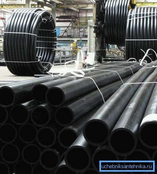 Существуют самые разные размеры полиэтиленовых труб для водопровода.