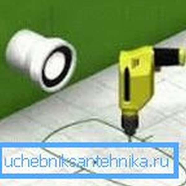 Сверление производится аккуратно, чтобы не повредить плитку
